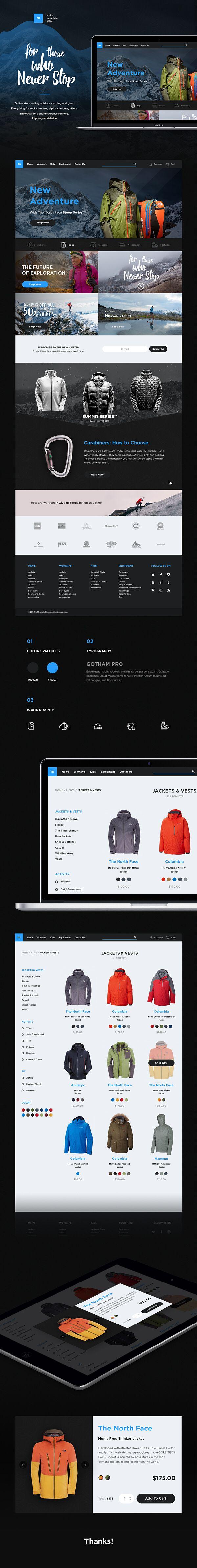 White Mountain Store Website Design Layout Web Development Design Web Design