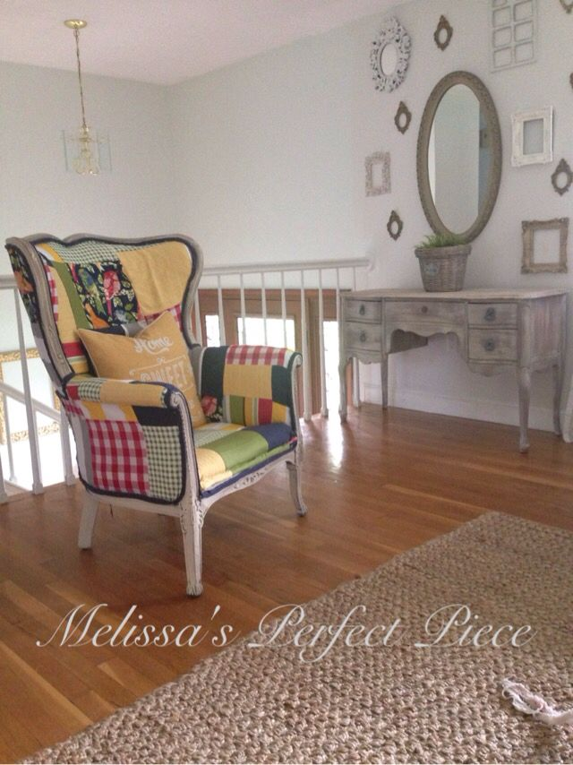 French Country Wingback Chair