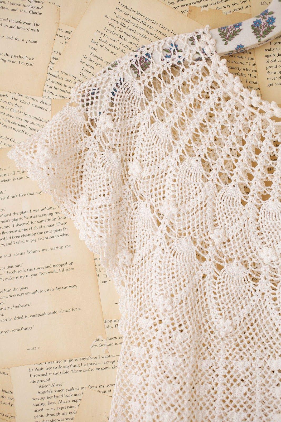 Crochetemoda: Blusa Branca de Crochet | Patrón Libre | Pinterest ...