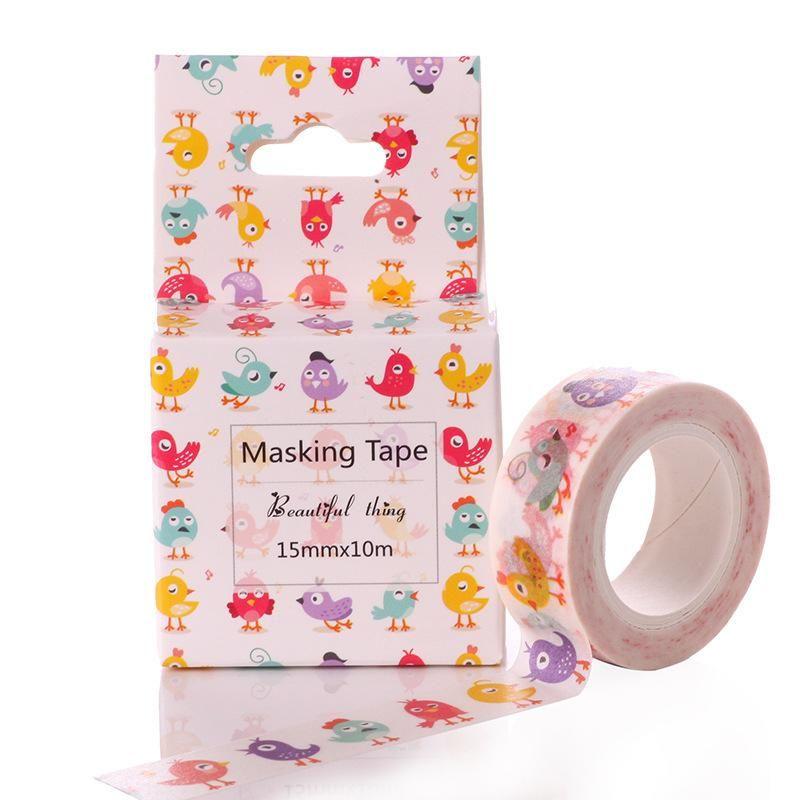 Office Adhesive Tape Kawaii Unicorn Washi Tape Diy Fita Decorativa 15mm*10m Adesiva Decorada Masking Tapes Cute Washitape Decorative Adhesive Tape