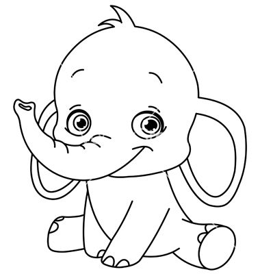 Outlined Baby Elephant Vector Art Download Outlined Vectors 568760 Elephant Coloring Page Coloring Books Disney Coloring Pages