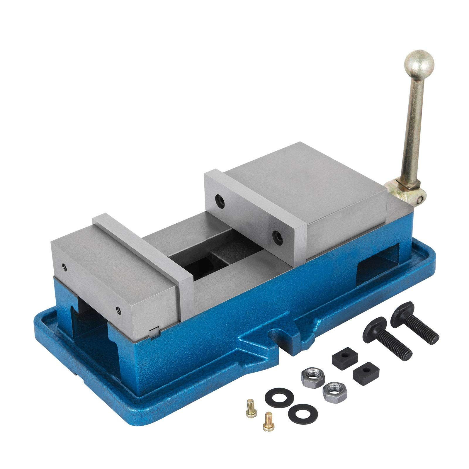 Happybuy 4 Inch Accu Lock Down Vise Precision Milling Vise 4 Inch Jaw Width Drill Press Vise Milling Drilling Mac In 2020 Drilling Machine Drill Press Vise Bench Clamp