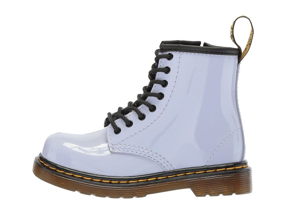 4ef78dadc448 Dr. Martens Kid's Collection Brooklee 8-Eye Boot (Toddler) Kids Shoes  Purple Heather Patent Lamper