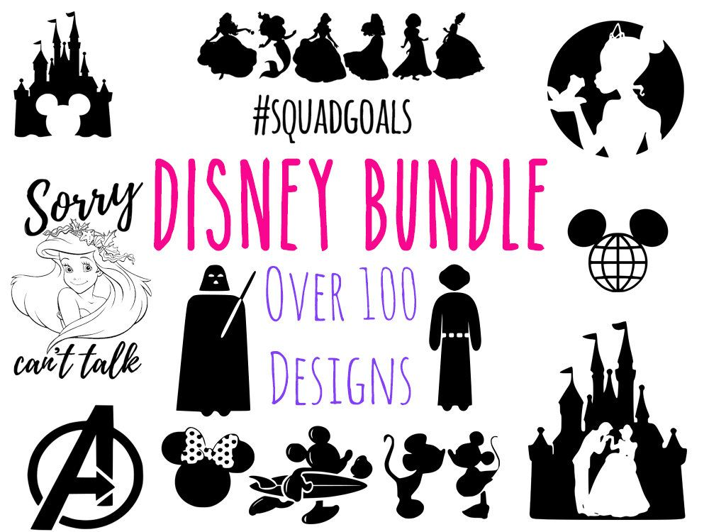 Disney SVG Bundle, disney, ariel, Disney Princess svg