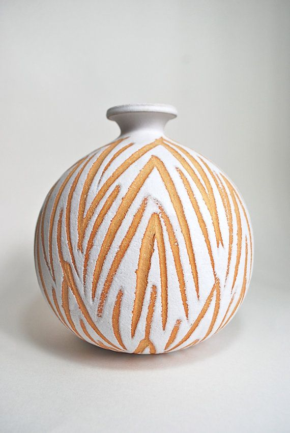 Mid Century Abstract Geometric Tribal Studio Pottery Art