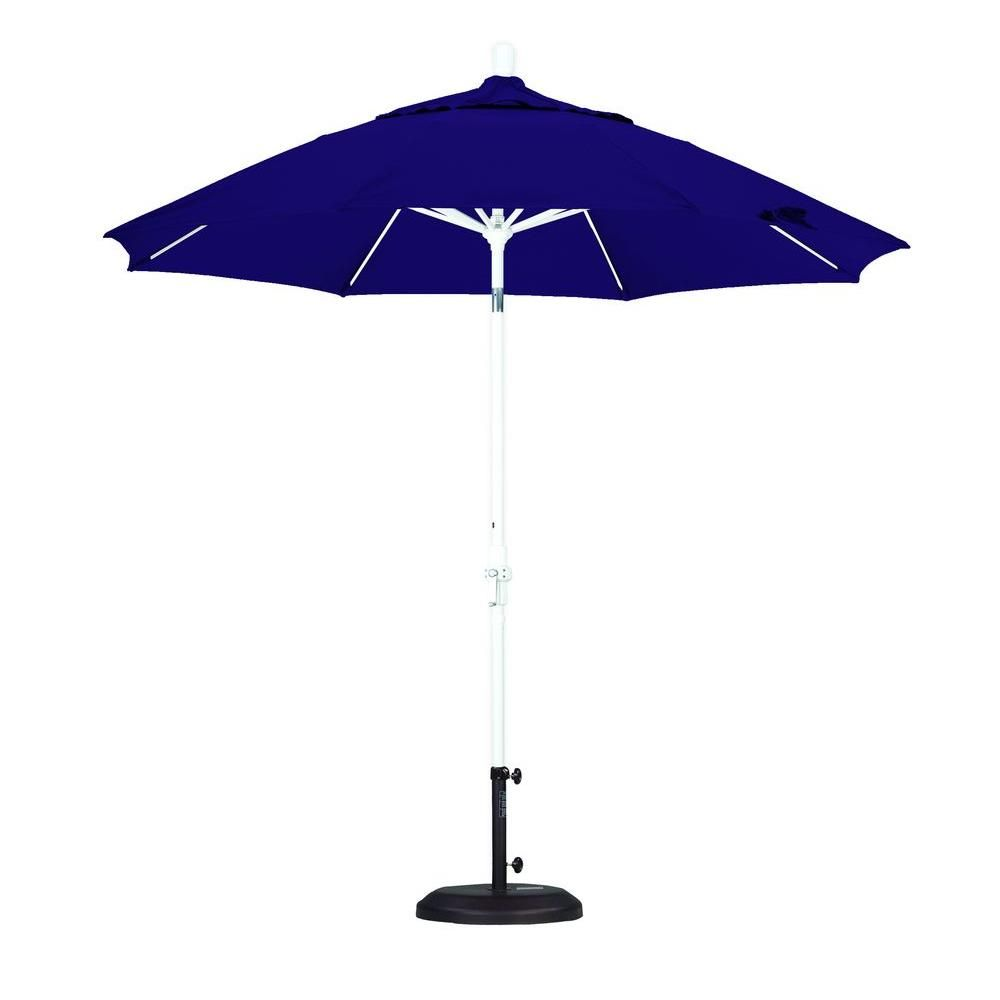 California Umbrella 9 ft. Fiberglass Collar Tilt Patio Umbrella in Purple Pacifica