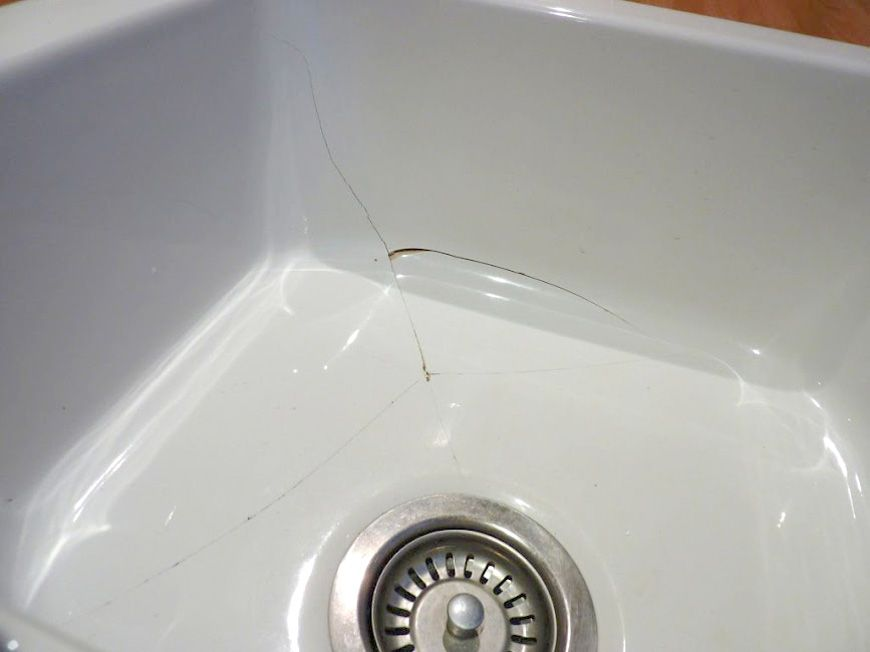 cracked belfast sink before kitchen ideas sink repair belfast rh pinterest com kitchen sink fixing clips screwfix kitchen sink fixing kit