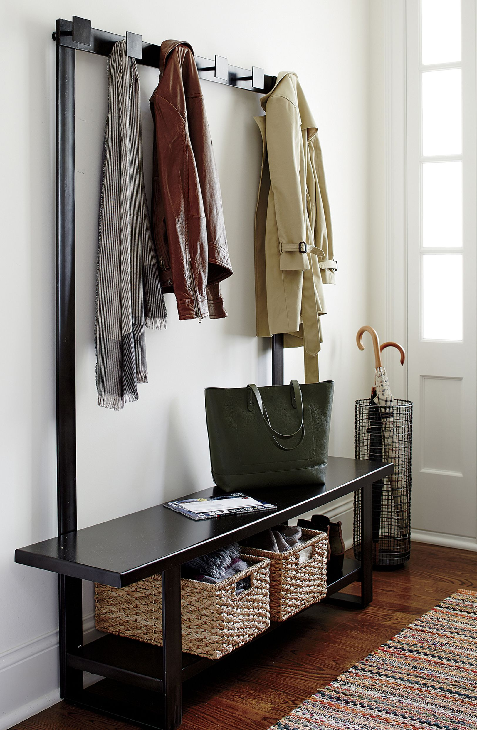 Entryway Benches With Storage Crate And Barrel Entryway Coat Rack Entryway Storage Entry Way Design