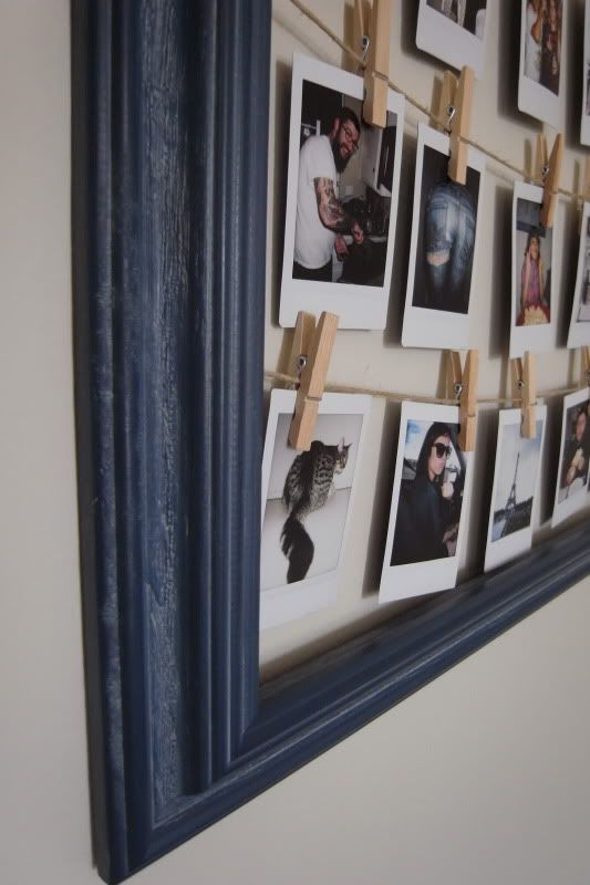 Love this to hang up pictures diy frame for polaroids picture diy frame for polaroids solutioingenieria Image collections