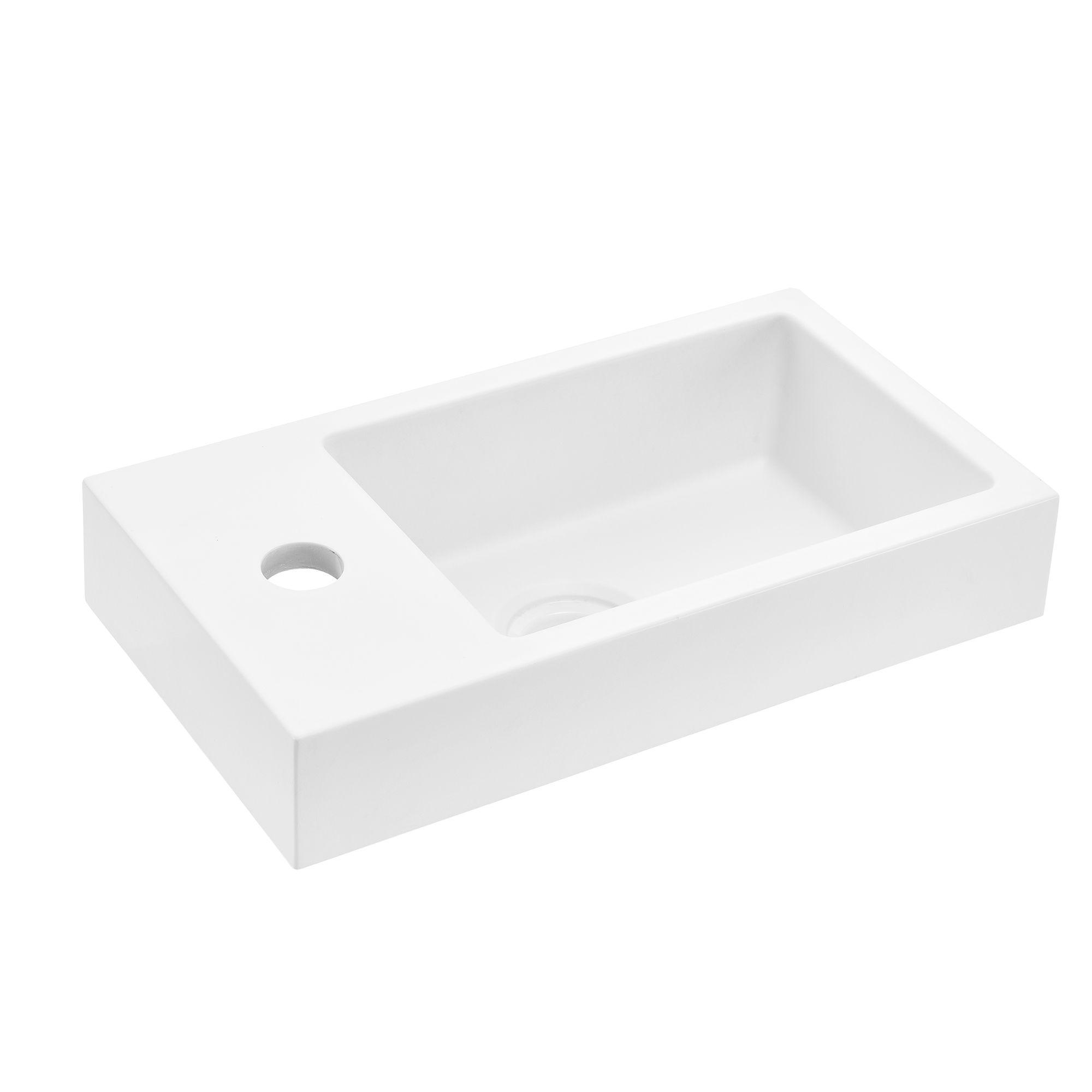 neu haus Lavabo blanco negro Cuenca lavabo WC de huespedes