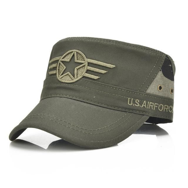 54edbcb53ef US Air Force Hat. Men Military Hat Adjustable Flat Top Caps Summer Male US  Washed Cotton Twill Army Cap Camouflage