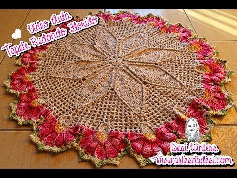 Artes da Desi: Tapete Redondo de Crochê | Crochet de casa ...