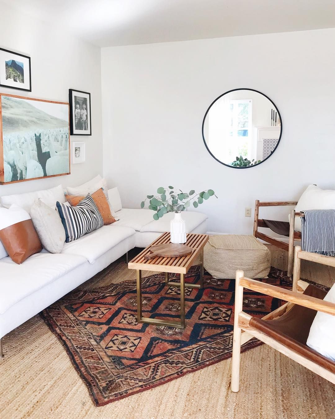 Rebecca Genevieve On Instagram Style Tip If The Rug Is To Small For The Space You Want To Put It In Home Decor Interior Design Living Room Warm Interior