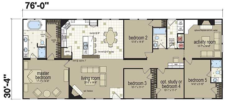 Floor Plans New Image Deluxe 3277 Manufactured And