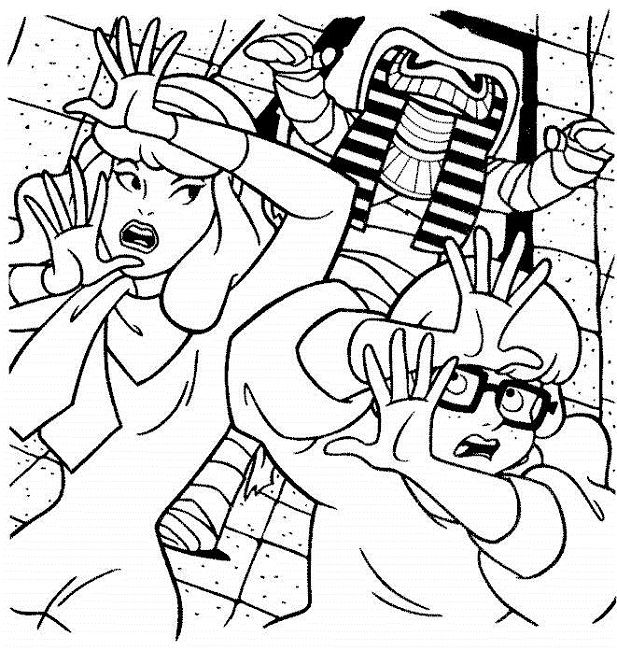 scooby doo mummy coloring pages - Scooby Doo Colouring Pictures To Print