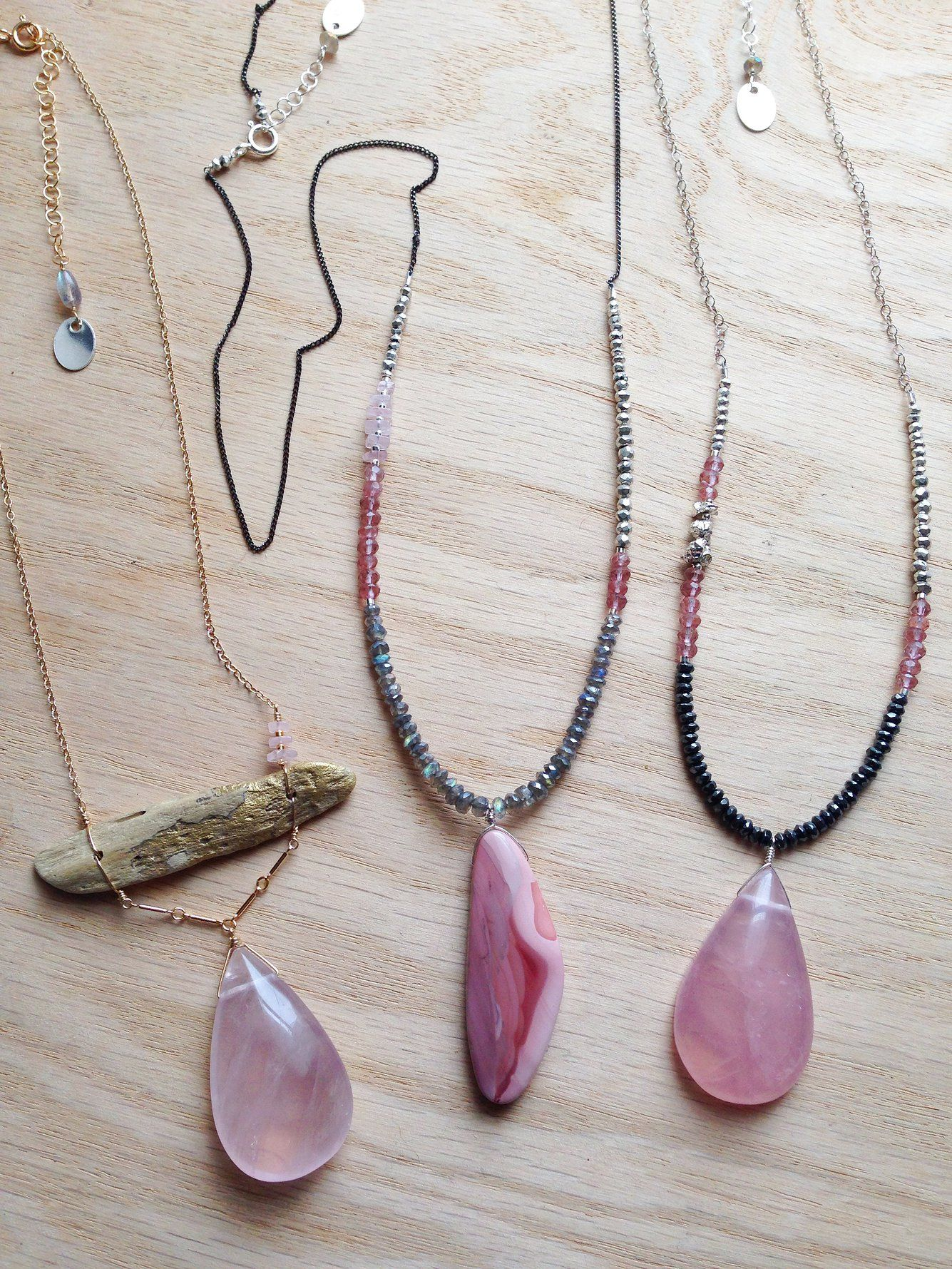 ∆∆∇∇ elementality | unique jewelry + clothing + art | -hush- necklaces