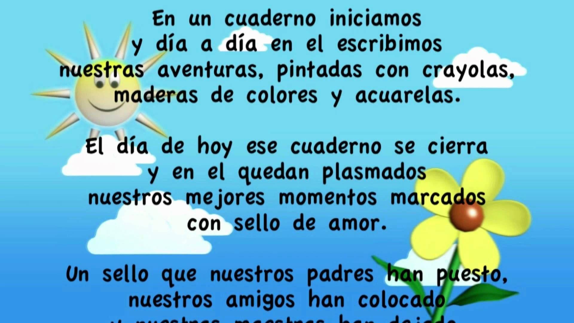 Poema Para La Graduación De Kinderr Mov Frases De Graduados Palabras De Graduacion Frases De Educacion