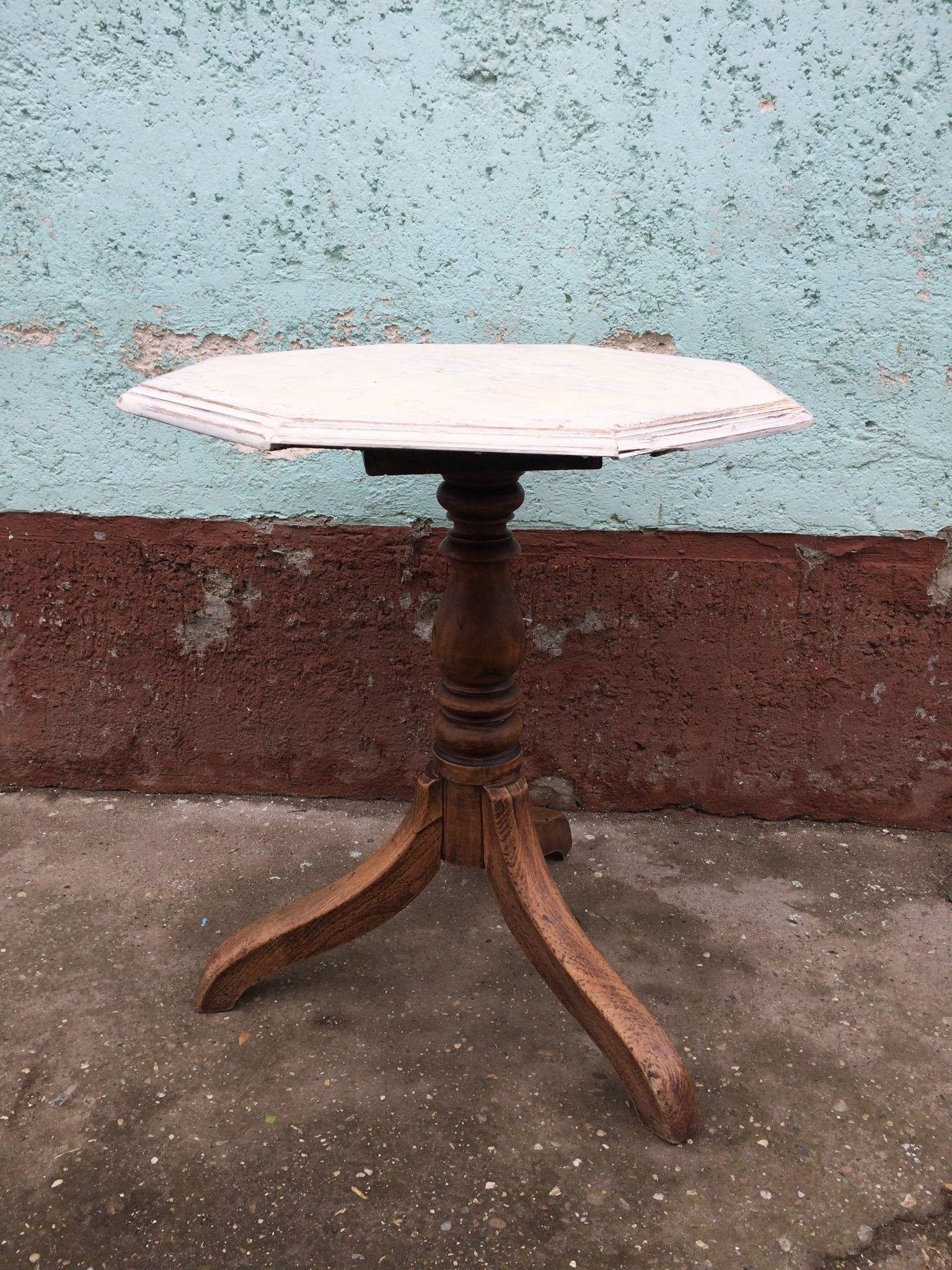 Vintage szögletes régi asztalka Bºtor