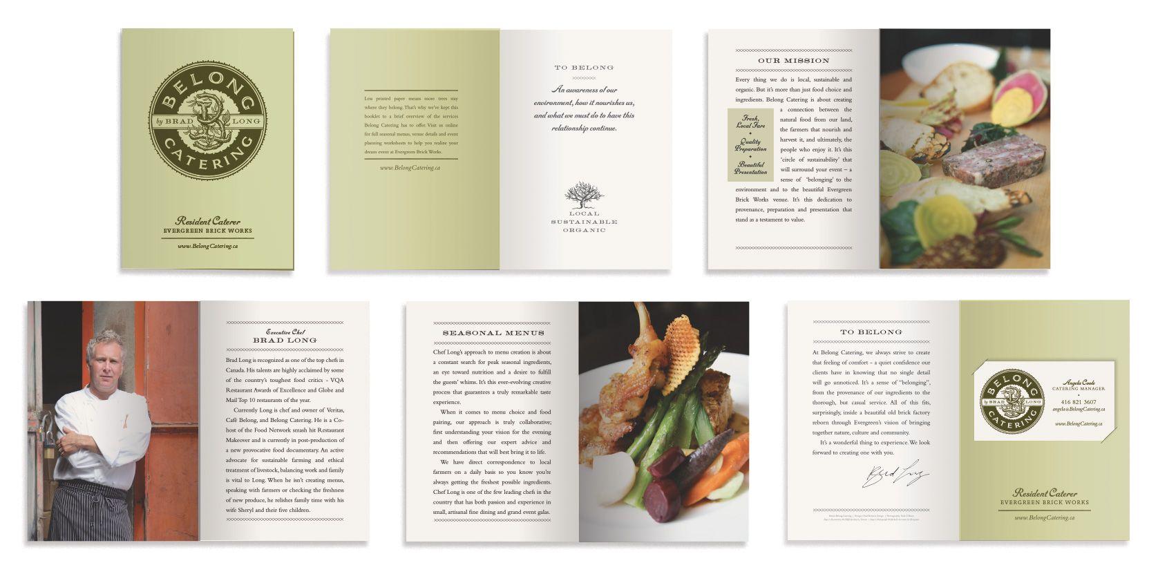 belong catering brochure design brochures pinterest menu