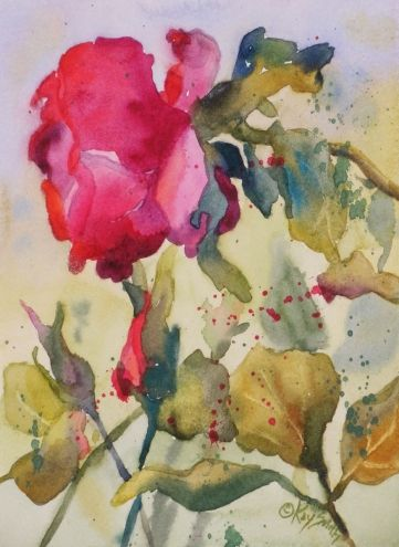 Ruby Slippers Red Roses For Veterans Original Art Painting By