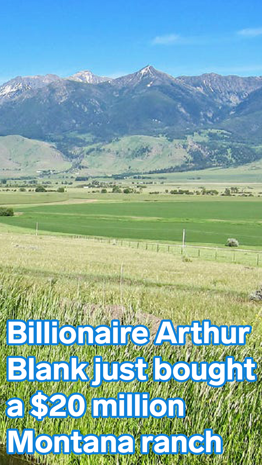 Arthur Blank Billionaire Cofounder Of Home Depot And Owner Of The Nfl S Atlanta Falcons Just Bought A 20 Million Montana Ranch Take A Look At The 9 300 Acre Montana Ranch Montana Ranch