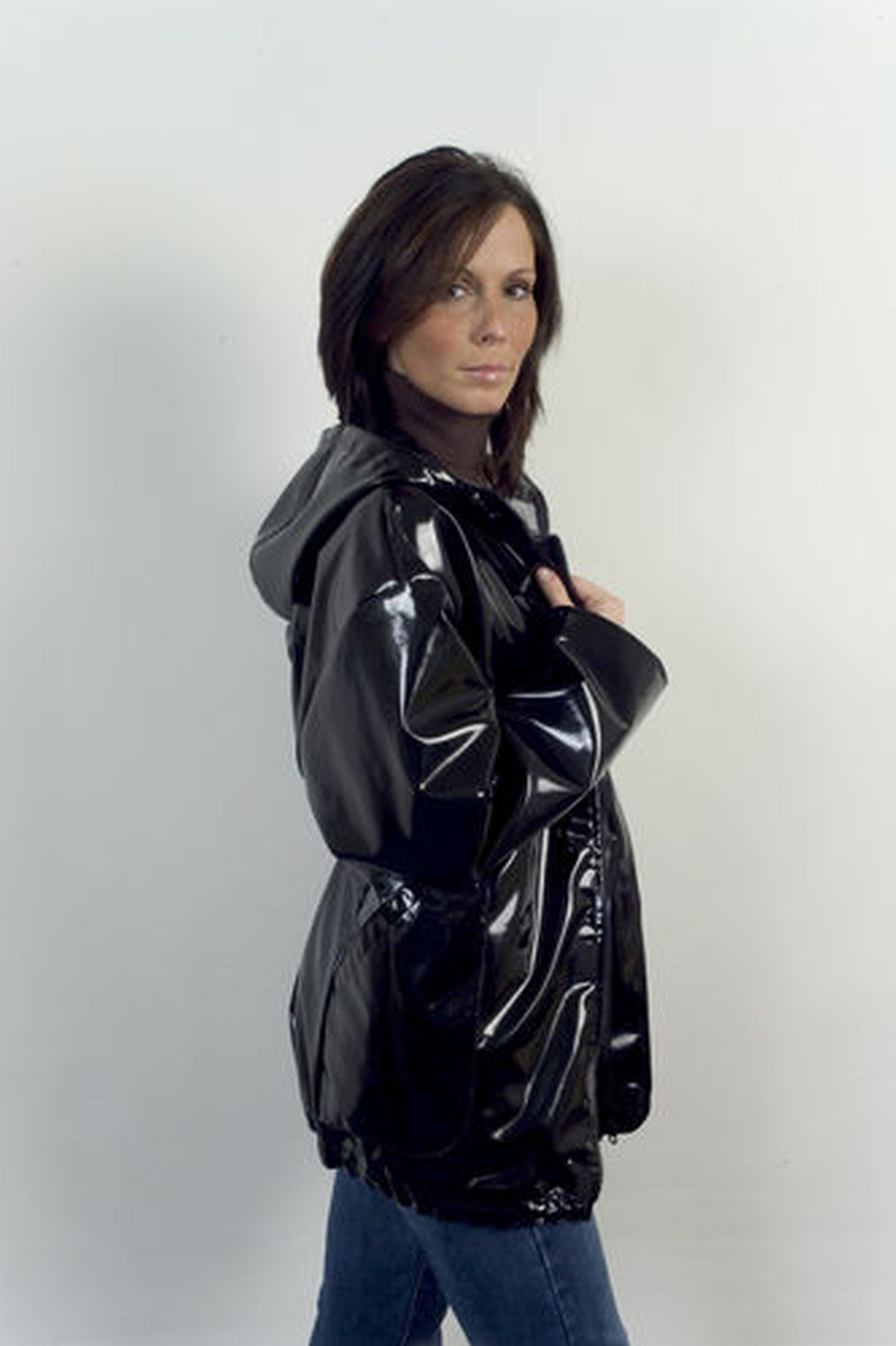 Grey Rubber Hooded Raincoat #BestWaterproofRaincoatWomens