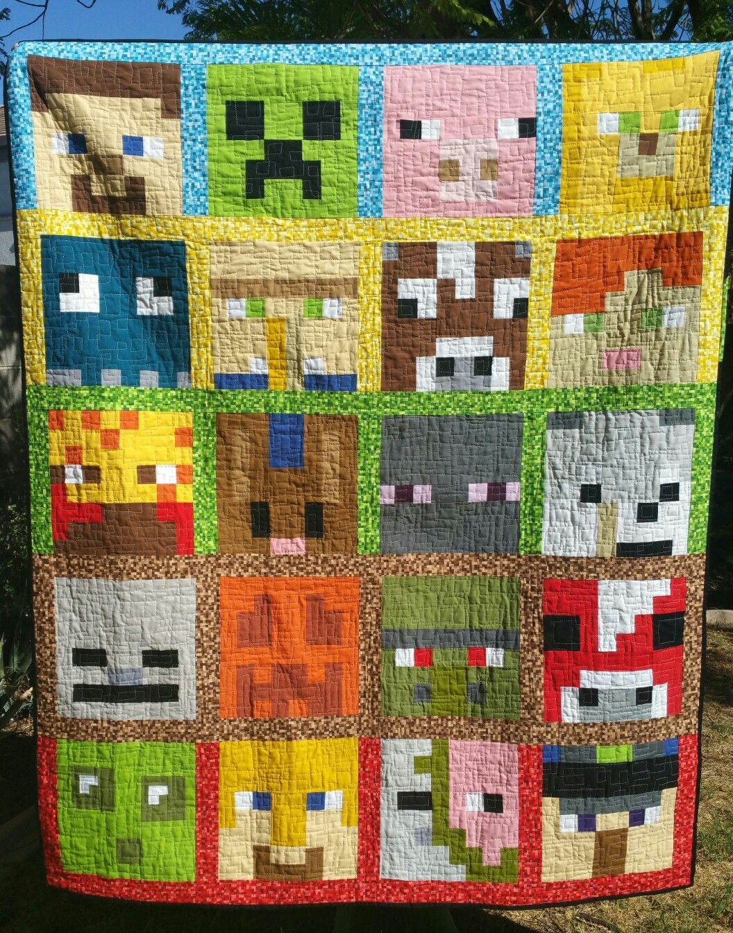 Minecraft Quilt Pattern By Kelli Fannin Of Seriously I Think It