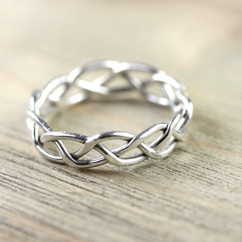 Silver Wire Ring in Celtic Braid 7mm - Entwined for Eternity - For ...