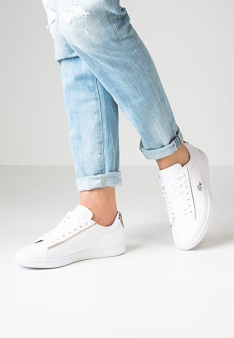 b9fe9aa6583 Chaussures Lacoste CARNABY EVO - Baskets basses - white blanc  95