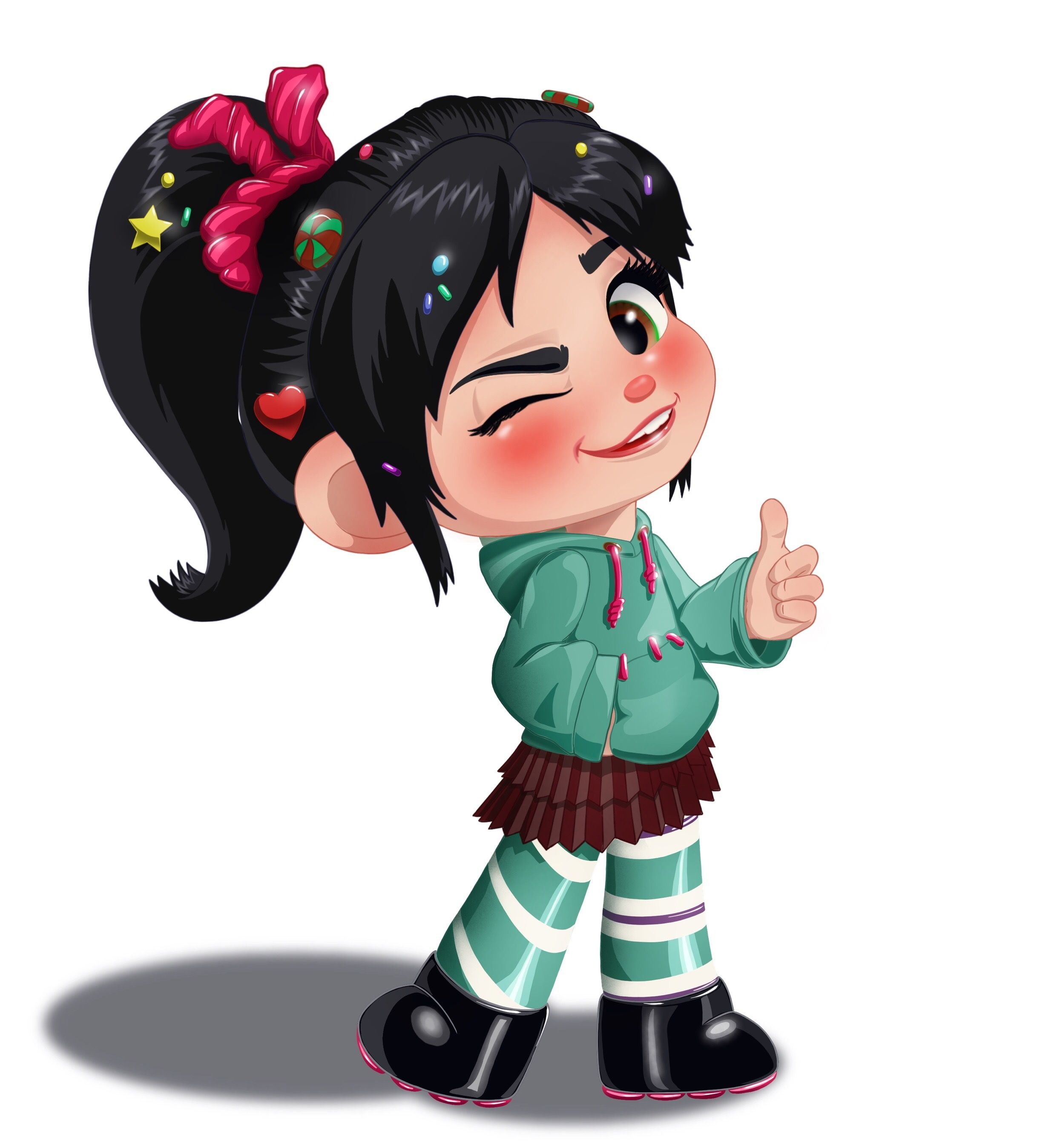 Vanellope Von Schweetz From The Disney Animated Movie Wreck It Ralph And Breaks Internet