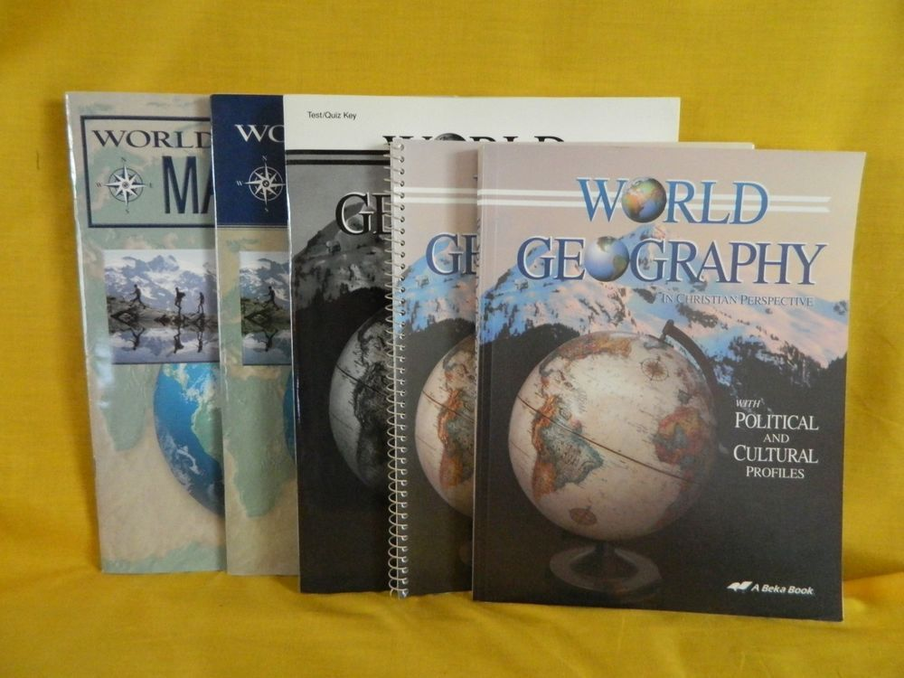 Abeka world geography student teacher w map studies homeschool or abeka world geography student teacher w map studies homeschool or school textbookbundlekit gumiabroncs Image collections