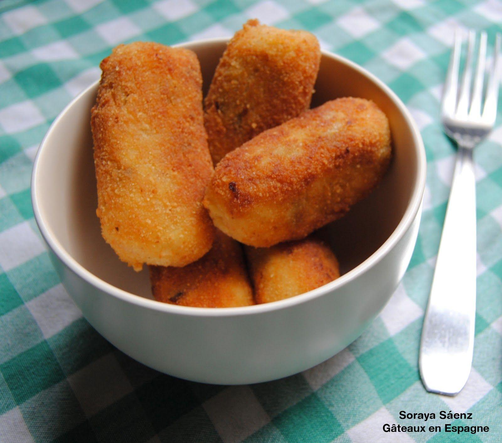 Les croquettes est un plat r pandu en espagne qui peut - Cuisine espagnole tapas ...