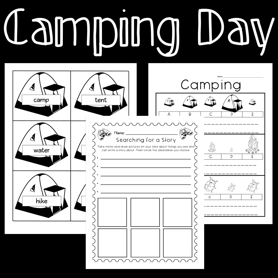 Camp Day Theme Activities and Worksheets   Abc order worksheet [ 960 x 960 Pixel ]