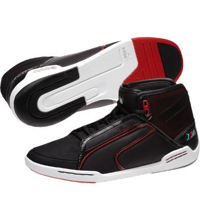 BMW M Street Tuneo NM Mid Mens Shoes, phantom black-ribbon red