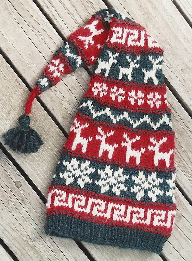 Alpine Reindeer Hat Knit Knitting Pinterest Reindeer Hat