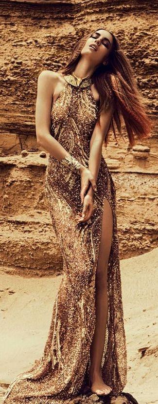 Nadja Bender by Alexander Neumann | 'Gold Dust' Editorial