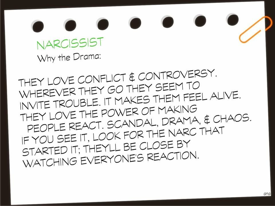 Narcissistic traits....Always the one common denominator