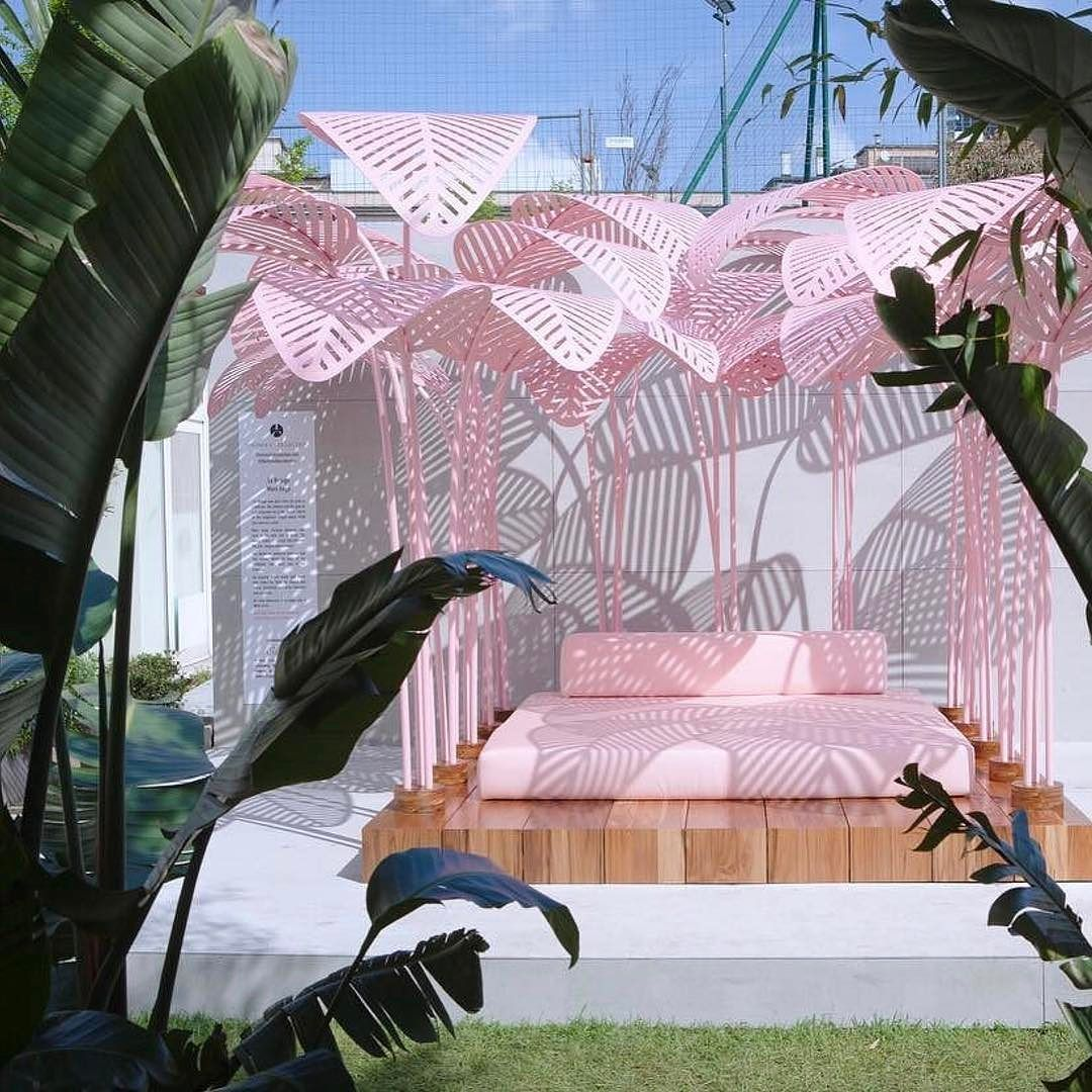 We loved relaxing in La Refuge. Full details on the blog.  #Repost @theinvisiblecollection  Relax in Le Refuge @marc.ange spectacular daybed. If you are lucky and the sun is out you will be blown away by the light and shadows created by the laser cut palms as well as the surrounding jungle put together by @the_greengallery and @thewunderkammer_amsterdam #designisart #nofilter #LOVE #wallpapermag #lerefuge #theinvisiblecollection #wallpaperhandmade #holyhandmade #happiness #salonedelmobile