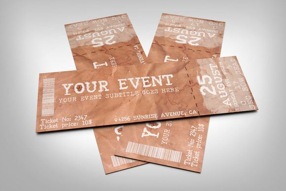 Old paper event ticket by studioweb on @creativemarket