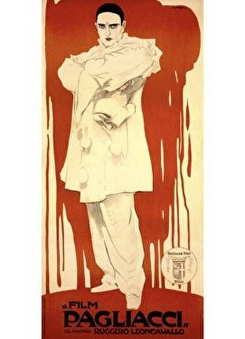 VintageArte - Pagliacci Opera Clown : Posters and Framed Art Prints Available