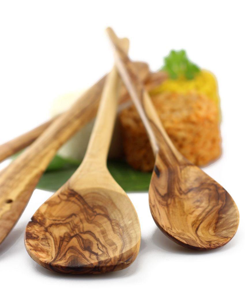 Küchenhelfer-Set 2 aus Olivenholz | treevoli | Olivenholz Produkte ...