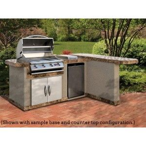 8 Ft Outdoor Kitchen With L Shape Countertop Cal Flame Lbk830
