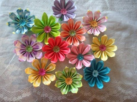 How To Make 8 Petals Origami Flower Youtube Origami Flowers