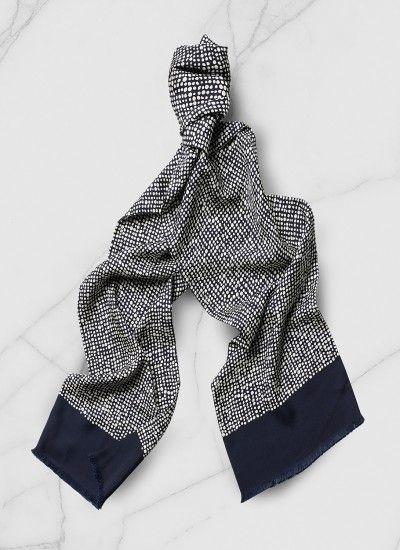 Foulard tubulaire homme en twill de soie   Achetez votre foulard tubulaire  bleu… f17557c5500
