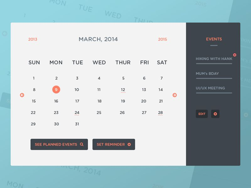 Freebie psd calendar ui events calendar ui events and ui ux freebie psd calendar ui events saigontimesfo