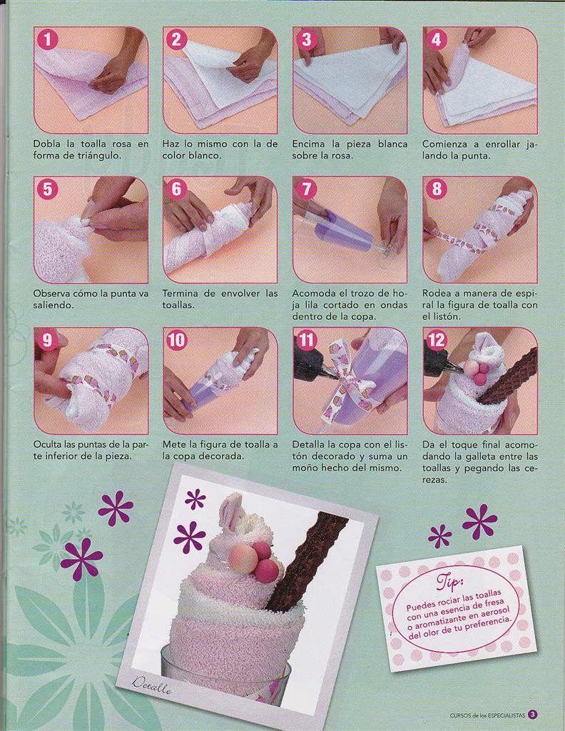 Como hacer una malteada con una toalla mu ecas for Adornos con toallas