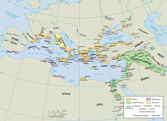 Ancient World in the 7th Century B C HistoryX