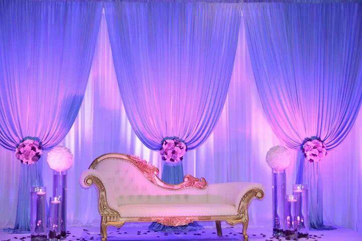 Lavender wedding stage design. | Wedding design decoration ...