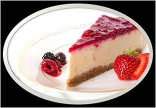 Cheesecake s malinami