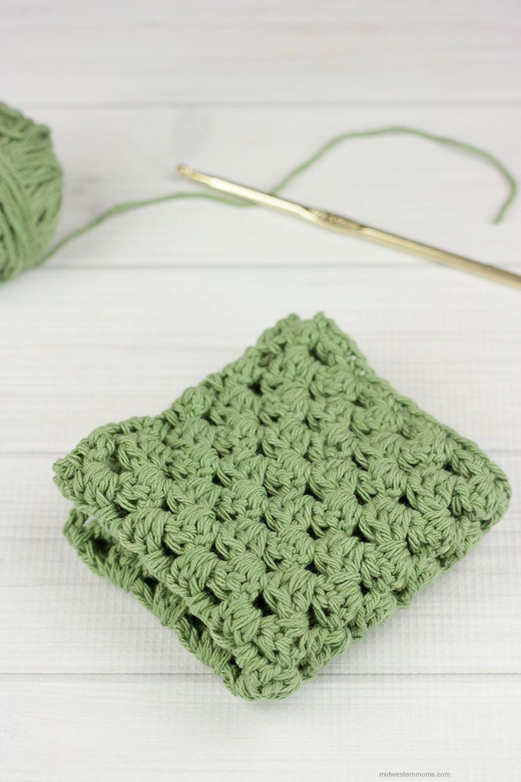 Granny Stripe Crochet Dishcloth Pattern